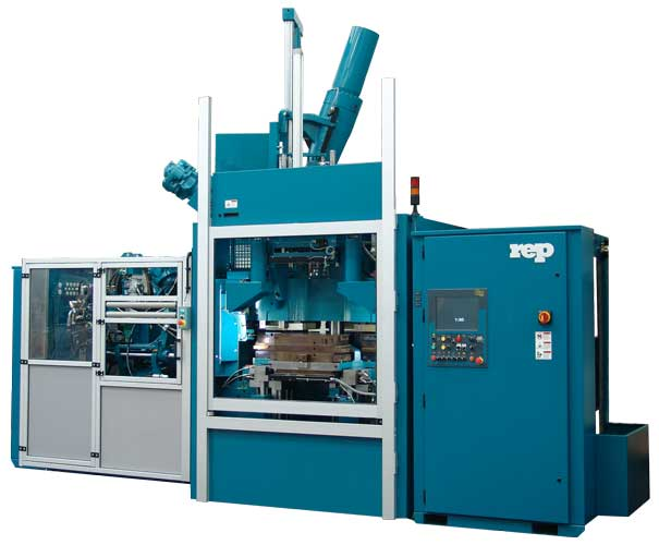 Dual-compound multistation rubber injection molding machine