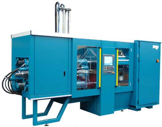 Horizontal Rubber injection moulding press - EASY REMOVAL OF MOLDED PARTS