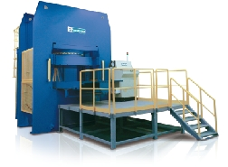 bridge-type compression molding machine for composite parts |optical disk