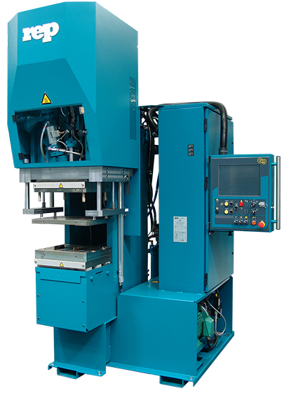 C-Frame moulding machine for rubber or plastic injection : profile welding or extruded hoses