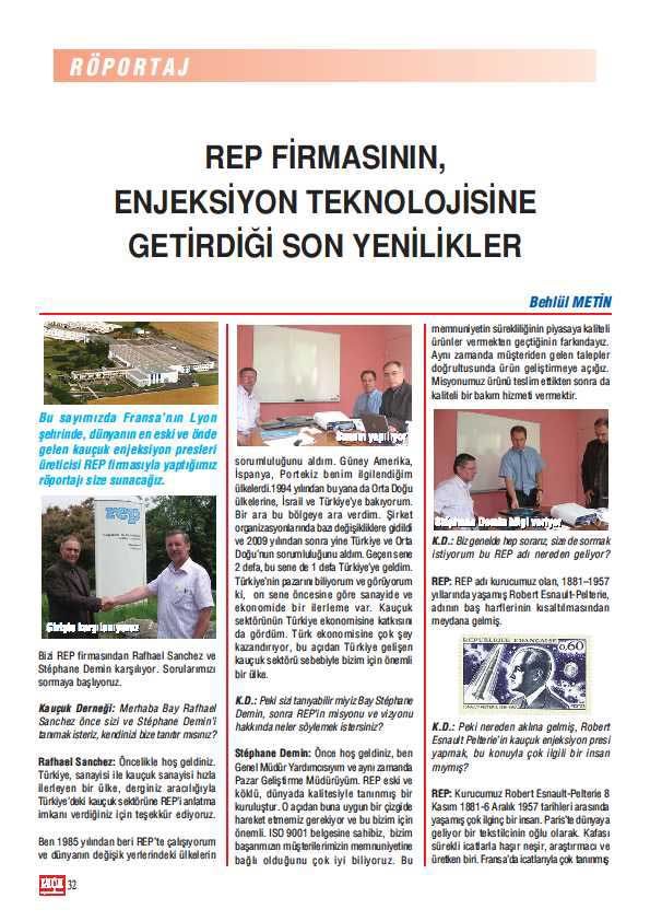 press article about rubber injection moulding in turkish